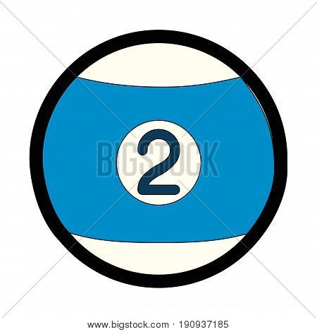 billards ball icon over white background vector illustration