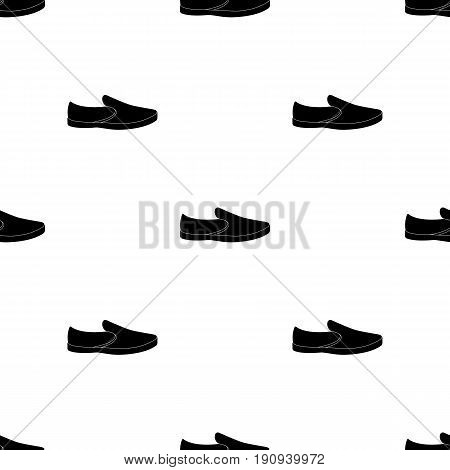 white sneakers unisex lace up. Shoes for sports and daily life.Different shoes single icon in black pattern vector symbol stock web illustration.
