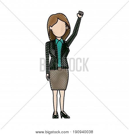 character woman politician standing wearing skirt vector illustration