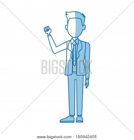 politician man leadership character suit standing vector illustration