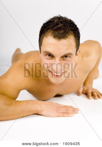Naked Man On The Floor