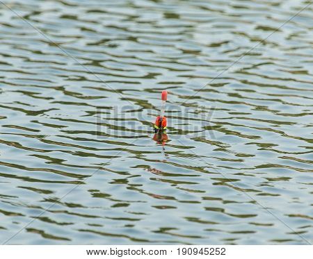 float for fishing on the water . A photo