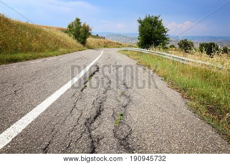 Damaged Road, Italy
