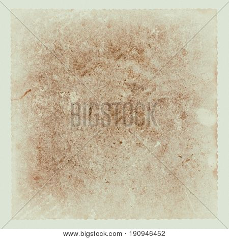old paper with a figured emarginated, isolated on white