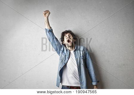 Jubilant guy