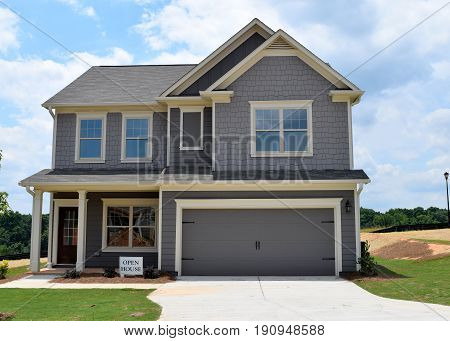 New constructed home for sale at rural Georgia,  USA.