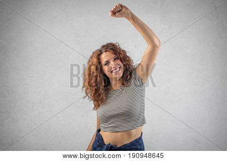 Jubilant young lady