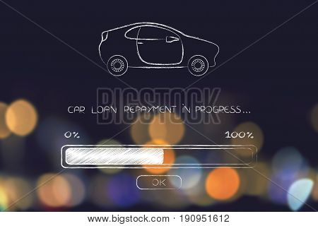 Loan Car Repayment With Progress Bar Loading