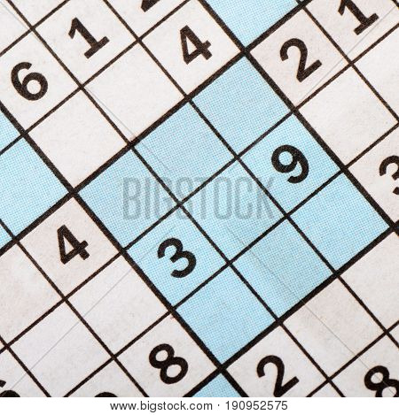 The Blank Crossword Closeup