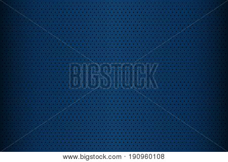 Blue perforated metal texture abstract background vector illustration