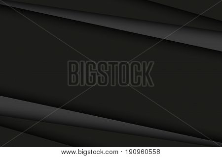 Abstract black and dark grey background diagonal lines vector illustration