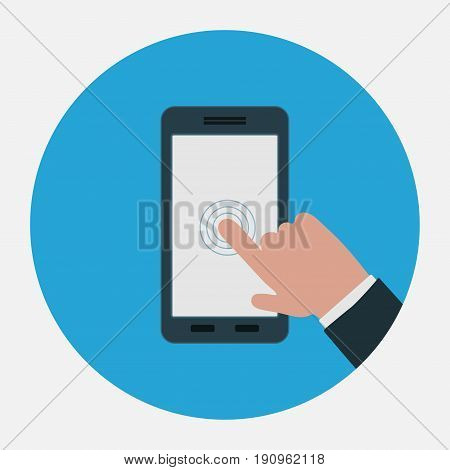 icon touch screen control technology flat design sign for smartphone mtobylnaya technologists fully editable vector image