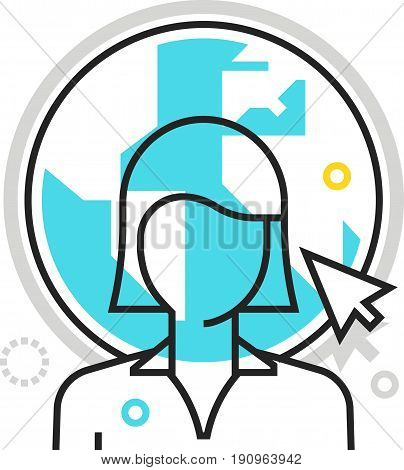 Color Box Icon, Outsource Illustration, Icon