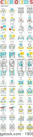 Color Box Icons, Genders Backgrounds And Graphics. The Illustration Is Colorful, Flat, Vector, Pixel