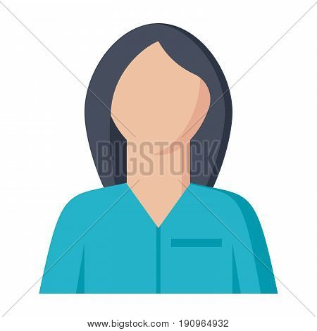 Nurse or physician vector illustration in flat style