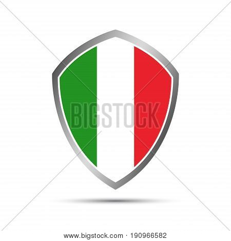 Simple Italian pointers in the shape of a shield vector elements for your infographic