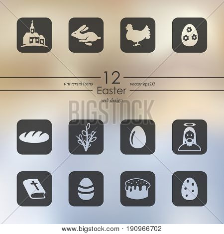 It is a Set of easter icons