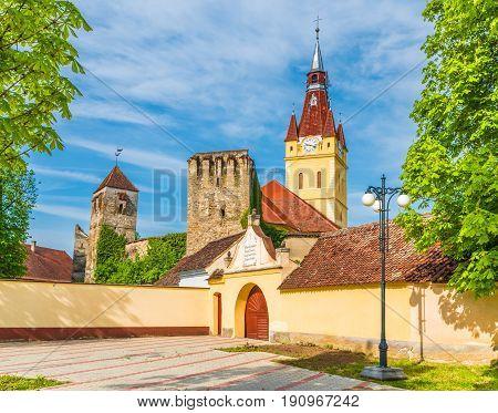Evangelical fortified church of Cristian Transylvania Romania.