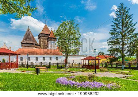 Medieval fortified church Homorod Brasov city Transylvania Romania