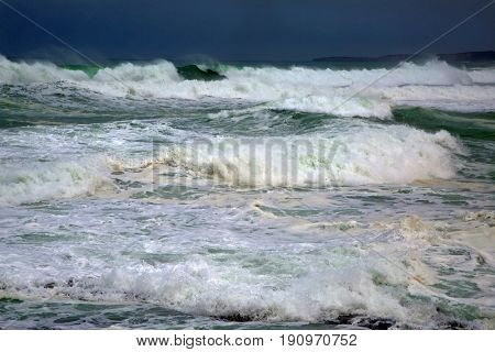 Violent waves of a storm