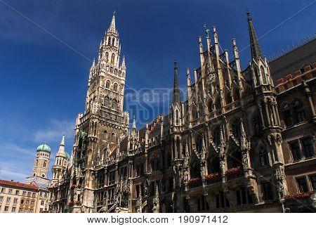Munich central square Marienplatz  Rathaus summer travel Germany Bavaria