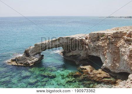 Monachus Monachus Arch. Cavo Greco Cape. Cyprus.