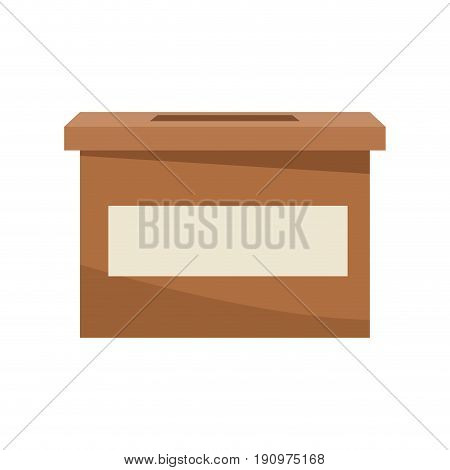 carton box elections democracy decision vector illustration
