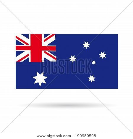 Australian flag icon on a white background