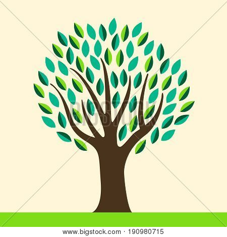 Stylized abstract tree with space for your type