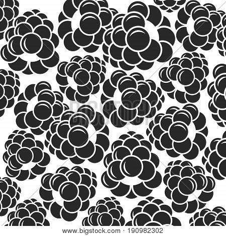 Blackberry. Black berries on white background (EPS)