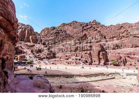 Petra Jordan - April 30 2017 - tourists at