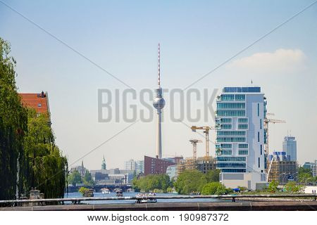 The Tv Tower Of Berlin That Located On The Alexanderplatz