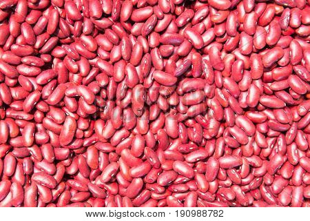 Red beans. Beans background. Natural organic beans