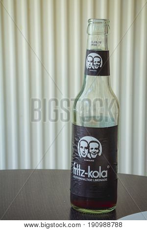 Berlin Germany - May 19 2017: Cola Bottle of the brand