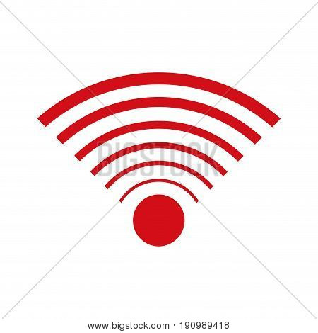 wifi internet signal connection icon vector illustration