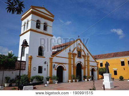 Santo Domingo Church in the sleepy town of Mompox, Colombia