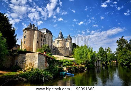 Verteuil-sur-Charente is a village situated on the banks of the river Charente, in the quiet French countryside with a beautiful castel and water mills
