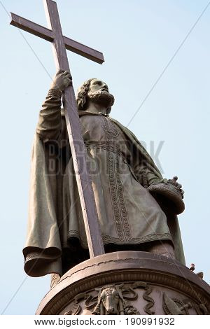 KIEV, UKRAINE - MAY 1, 2011: It is a monument to Prince Vladimir the Great who baptized the ancient Slavs.