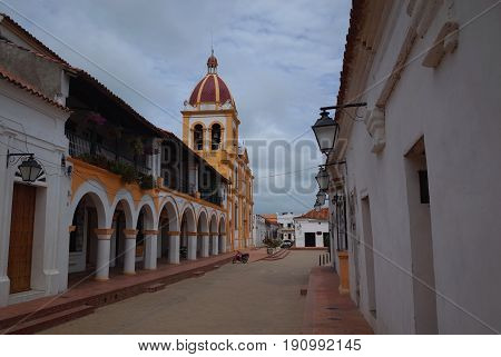Church of the Holy Conception in the sleepy town of Mompox, Colombia