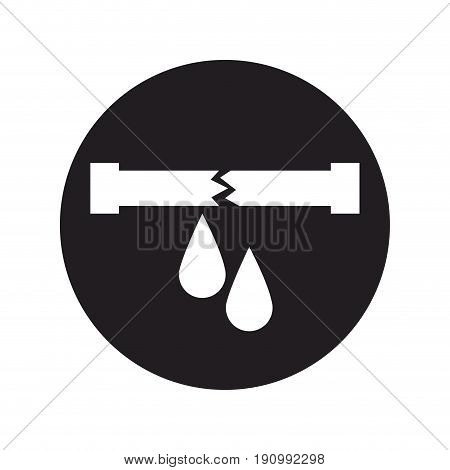 water leak icon pipe broken plumbing vector illustration