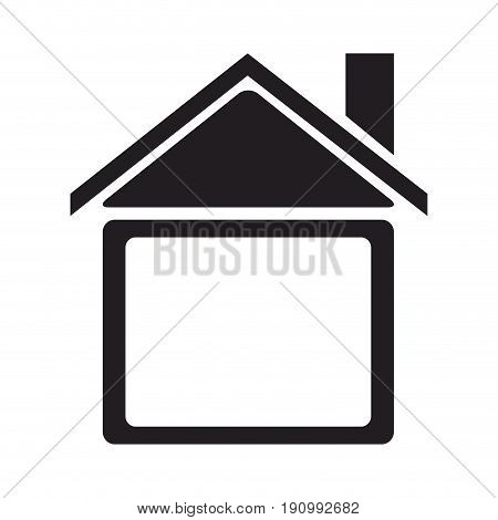silhouette house home construction structure icon vector illustration