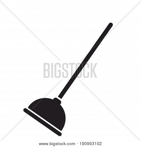 toilet plunger with handle cleaning icon vector illustration