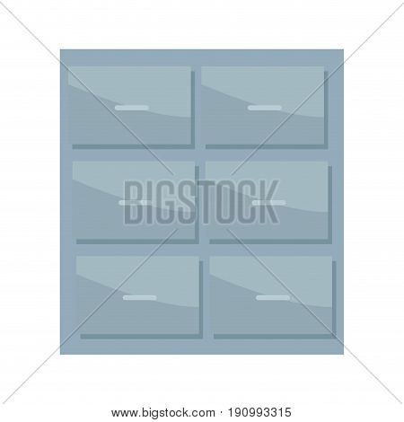 metal cabinet handle archive furniture office vector illustration