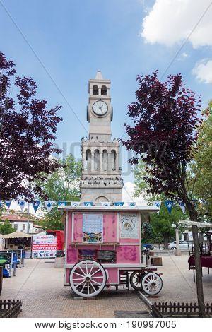 ANKARA, TURKEY - 3 June 2017:Renovated historical streets in Hamamonu - Ankara, Turkey