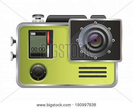 Vector camera Action Cam isolated on white background