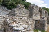 Ruins of ancient city of Butrint, Albania. Butrint was one of the biggest roman settlements in Balkan region. poster