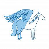 legendary winged horse from greek mythology pegasus vector illustration poster