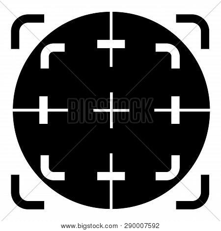 Scope Crosshair Icon. Simple Illustration Of Scope Crosshair Vector Icon For Web Design Isolated On