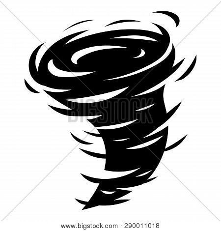 Tornado Icon. Simple Illustration Of Tornado Vector Icon For Web Design Isolated On White Background