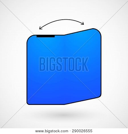 Foldable Screen Smartphone, Vector, Illustration, Eps File